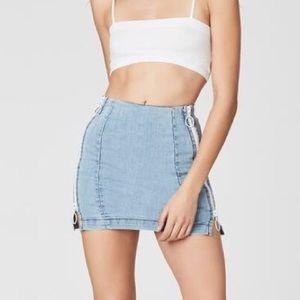 LF Double Zip Side Skirt / Carmar Denim